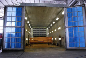 image of heavy equipment paint booth at Rocky Mountain Rebuild
