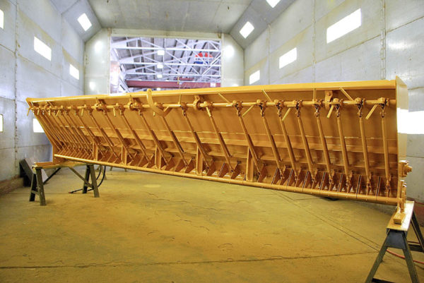 image of repainted used chip spreader at Rocky Mountain Rebuild 4