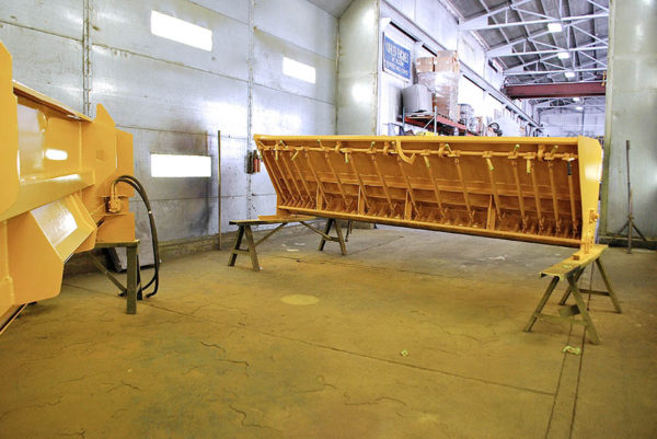 image of repainted used chip spreader at Rocky Mountain Rebuild 2
