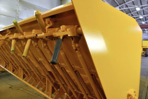 image of repainted used chip spreader at Rocky Mountain Rebuild