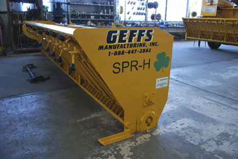 image of used chip spreader extra hopper