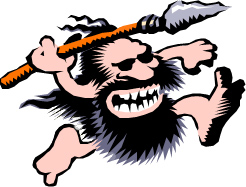 graphic of caveman series logo